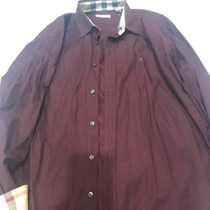 Burberry Britt men's button down shirt size XL